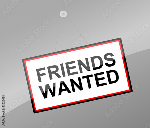Friends wanted concept.
