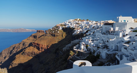 Santorini's Unique View at sunrise. Greece.