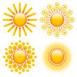 Set 4 Orange Suns