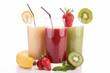 fruit juice on white background