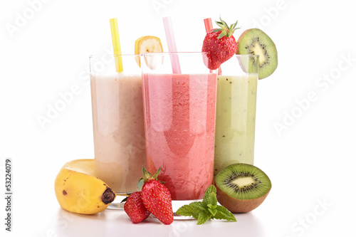 assortment of smoothies - 53224079
