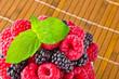 Sweet fresh fruits with mint leaf