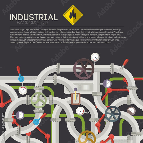 Industrial background with text fields