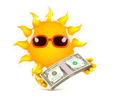 Sunshine gets paid in US Dollars