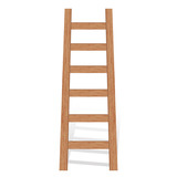Vector illustration of wooden ladder