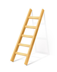 wooden step ladder vector illustration isolated on white