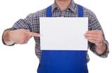 Mature Male Technician Holding Empty Sheet
