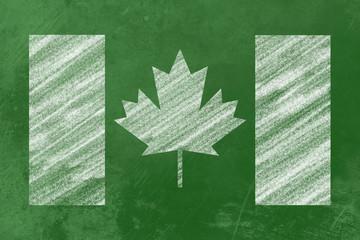 Tafel mit Kanadischer Flagge