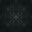 Luxury black charcoal floral wallpaper pattern - 53228646