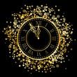 Vector shiny New Year Clock