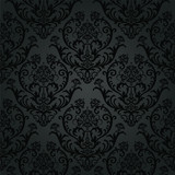 Fototapety Luxury black charcoal floral wallpaper pattern