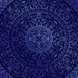 Vector oriental blue background with ornament