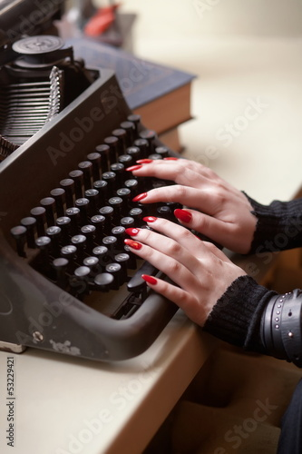 Retro typewriter