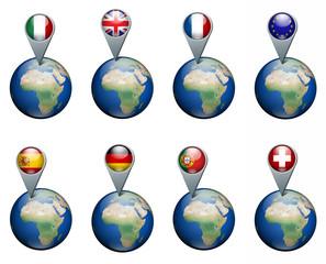 Nazioni europee appuntate sul mondo