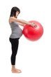 pregnant woman is engaged in fitness