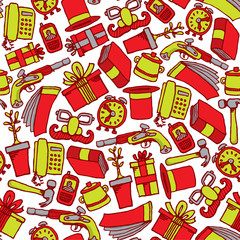 Garage sale seamless pattern