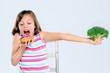 Wrong eating choices, kid chooses donut