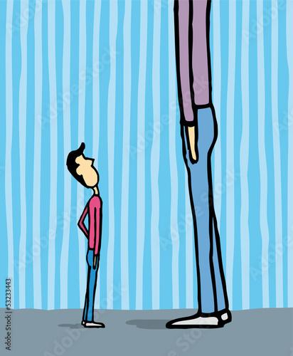 Looking at the bigger guy