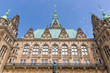 Facade historic town hall in Hamburg, Germany