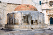 Old renaissance fountain inside old town Dubrovnik
