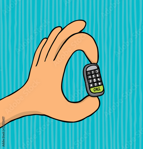 Mobile phone getting smaller