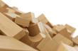 Gemischte Bauklötze aus Holz 2