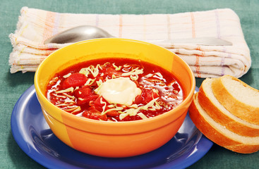 vegetable soup with tomato