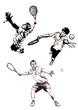 tennis trio