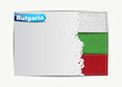 Stitched Bulgaria flag with grunge paper frame for your text.
