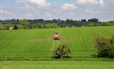 Crop Spraying in the Cotswold Hills