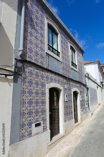 Typical Moorish architecture in Sesimbra, Portugal