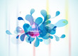 Abstract blue background reminding flower.