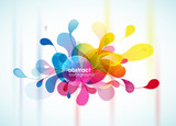 Fototapety Abstract colorful background reminding flower.