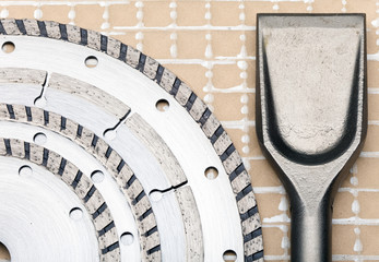 disks forsharp construction materials and blade for puncher.