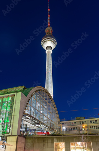 TV-tower in Berlin at night