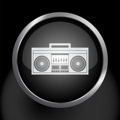 Boombox Music Radio Icon Symbol Vector