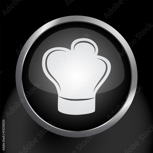 Chef's Hat Icon Symbol Vector