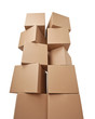 cardboard box package moving transportation delivery stack