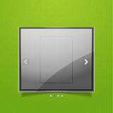 Glossy screen ad