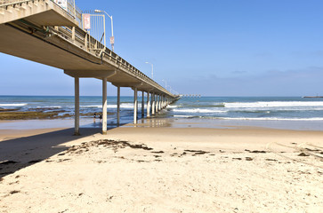 Point Loma San Diego pier and ocean california.