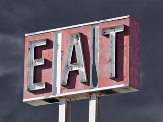 Retro Eat Sign Thunderstorm