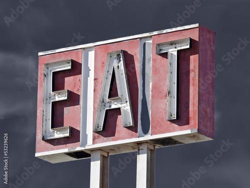 Retro Eat Sign Thunderstorm