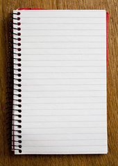 Empty Lined Paper Book Single Page