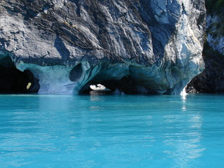 Marble caves. General Carrera lake.