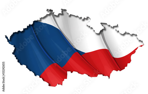 Czech Map-Flag