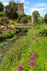 Colorful postcard of Blarney castle