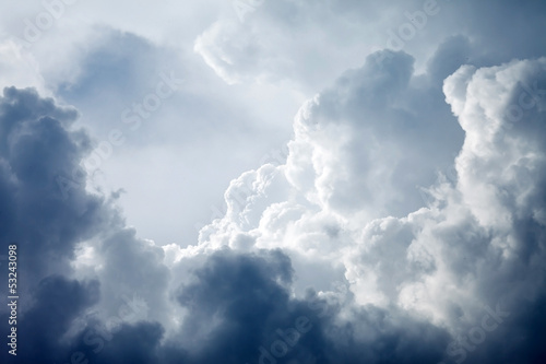 Dramatic sky with stormy clouds - 53243098