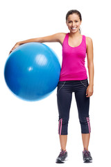 gym ball woman