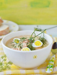 fish soup with eggs