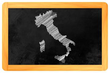 Italien auf einer Tafel